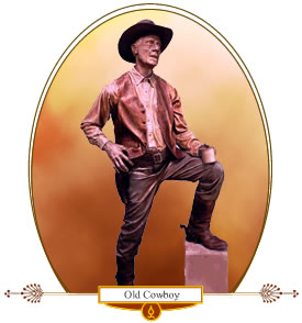 Sculpture of Old Cowboy